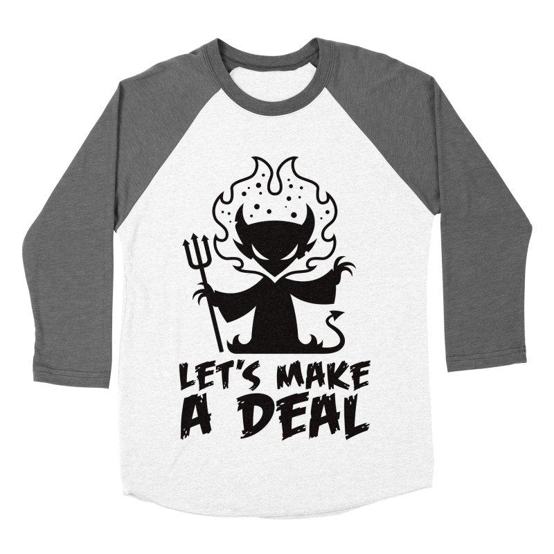 Deal With The Devil Men's Baseball Triblend Longsleeve T-Shirt by Fizzgig's Artist Shop