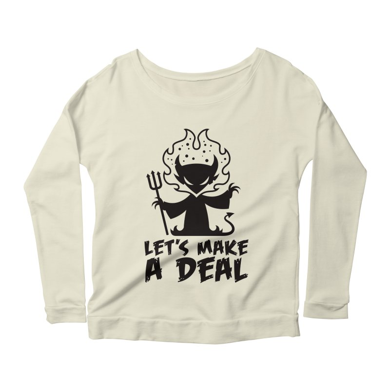 Deal With The Devil Women's Scoop Neck Longsleeve T-Shirt by Fizzgig's Artist Shop