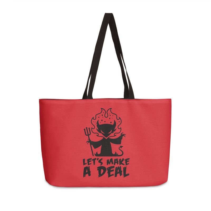 Deal With The Devil Accessories Weekender Bag Bag by Fizzgig's Artist Shop