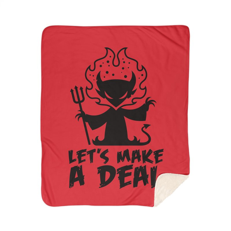 Deal With The Devil Home Sherpa Blanket Blanket by Fizzgig's Artist Shop