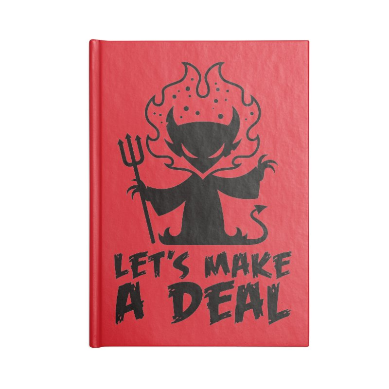 Deal With The Devil Accessories Lined Journal Notebook by Fizzgig's Artist Shop