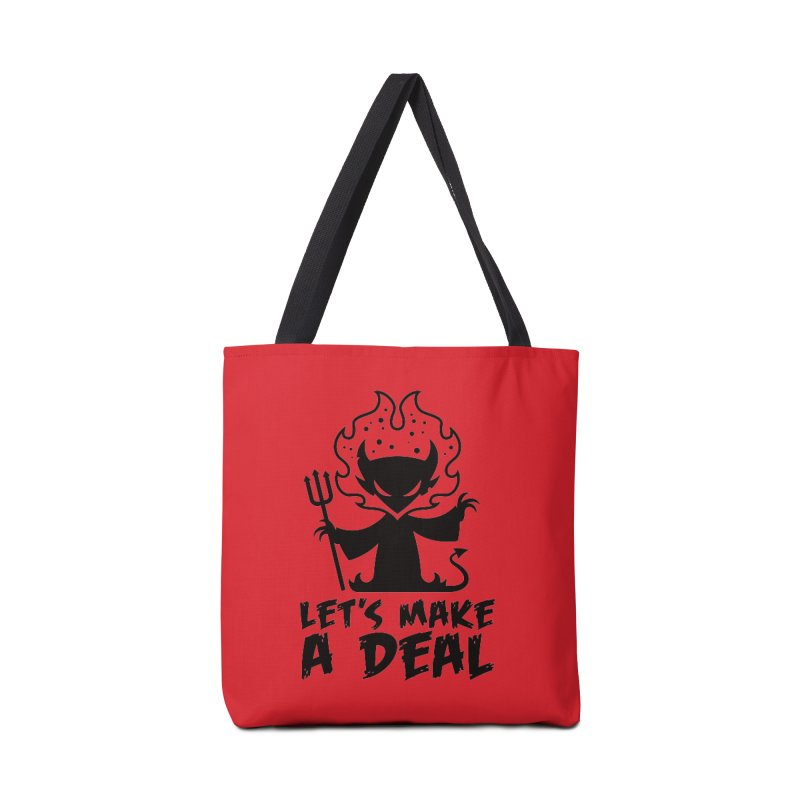 Deal With The Devil Accessories Tote Bag Bag by Fizzgig's Artist Shop