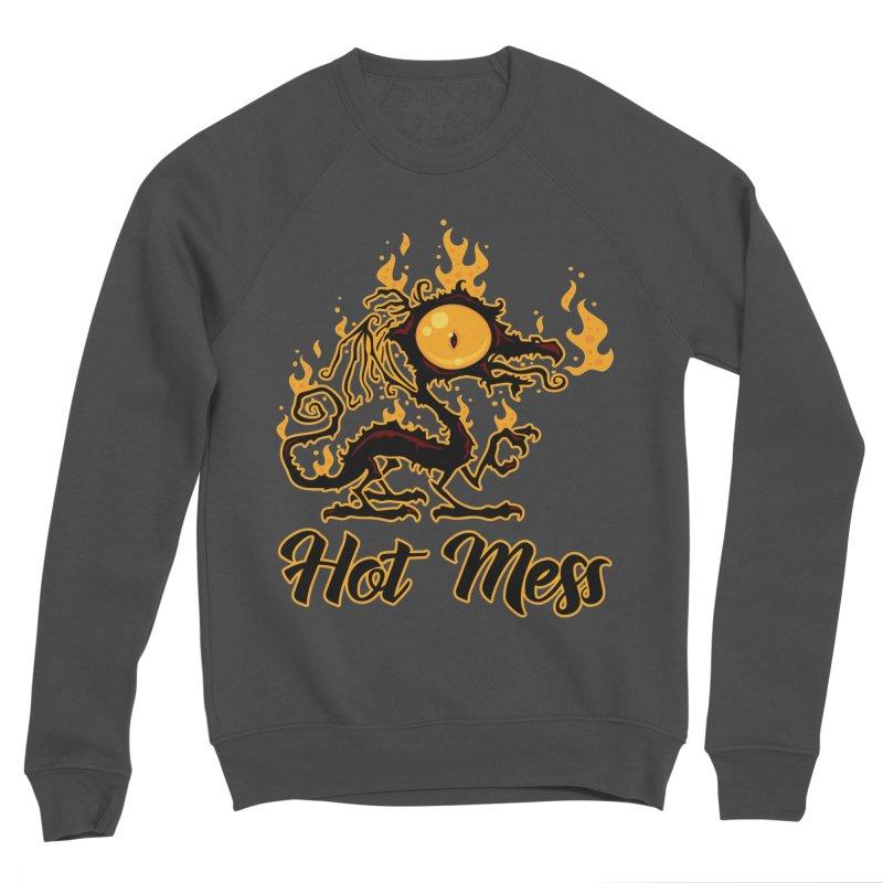 Hot Mess Crispy Dragon Men's Sponge Fleece Sweatshirt by Fizzgig's Artist Shop