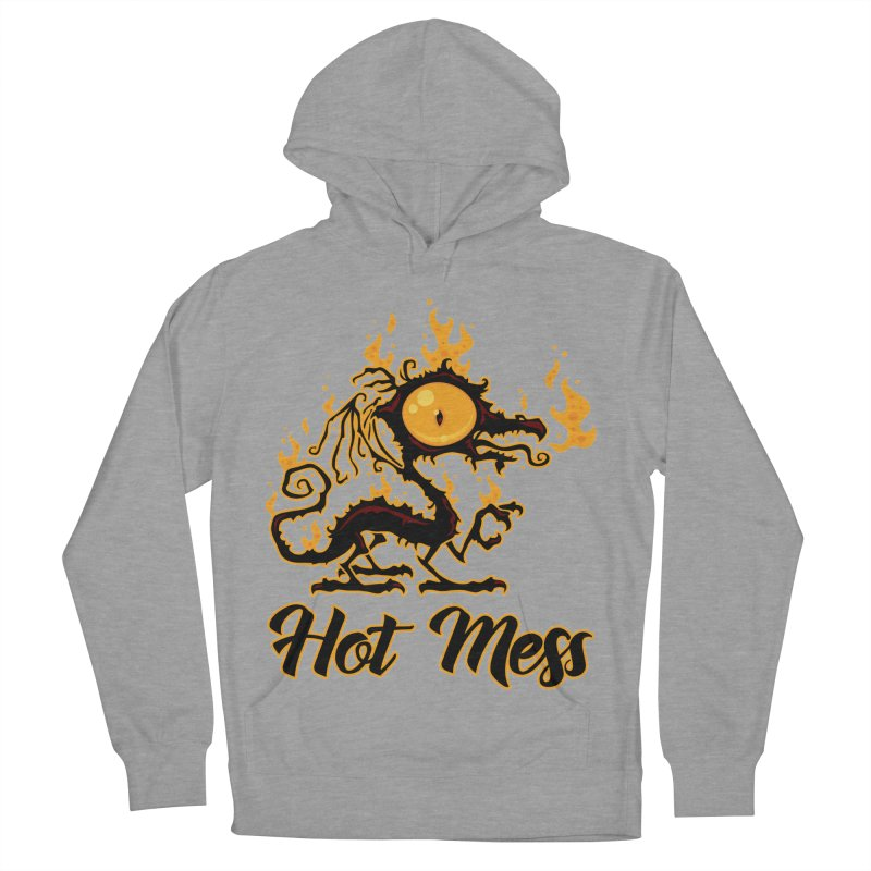 Hot Mess Crispy Dragon Men's French Terry Pullover Hoody by Fizzgig's Artist Shop