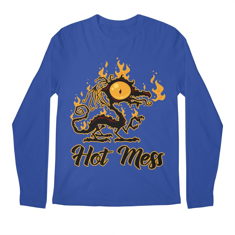 Hot Mess Crispy Dragon Men's Regular Longsleeve T-Shirt by Fizzgig's Artist Shop