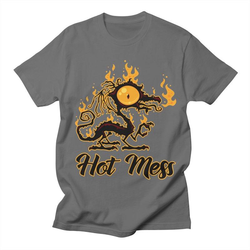 Hot Mess Crispy Dragon Men's T-Shirt by Fizzgig's Artist Shop