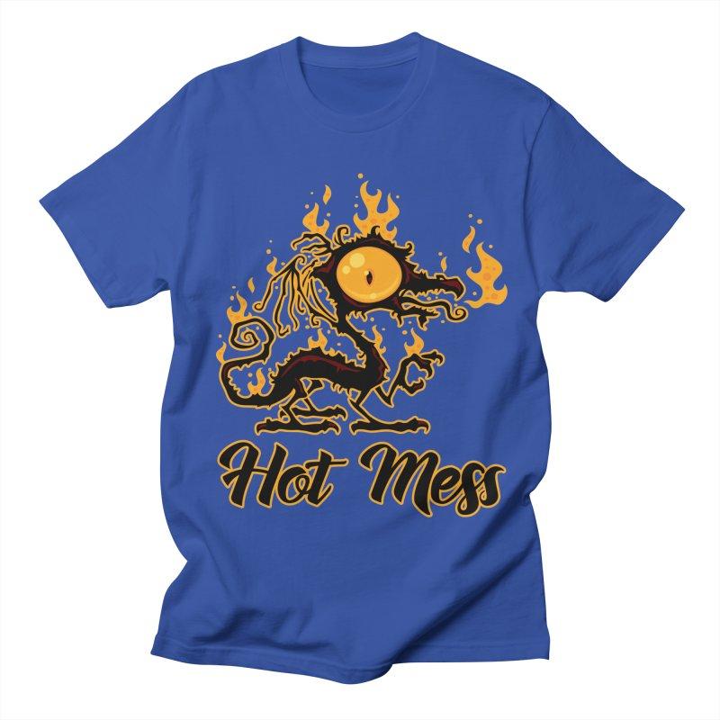 Hot Mess Crispy Dragon Women's Regular Unisex T-Shirt by Fizzgig's Artist Shop