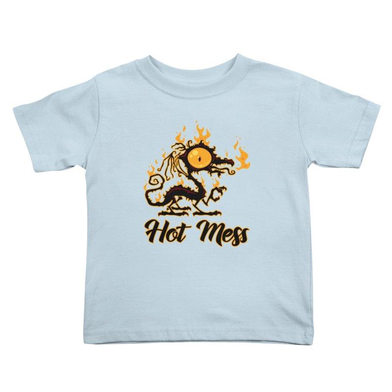 Hot Mess Crispy Dragon Kids Toddler T-Shirt by Fizzgig's Artist Shop