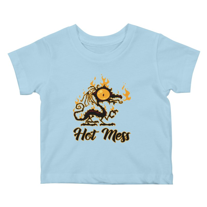 Hot Mess Crispy Dragon Kids Baby T-Shirt by Fizzgig's Artist Shop