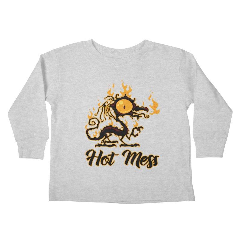 Hot Mess Crispy Dragon Kids Toddler Longsleeve T-Shirt by Fizzgig's Artist Shop
