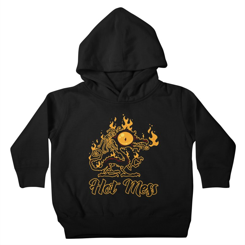 Hot Mess Crispy Dragon Kids Toddler Pullover Hoody by Fizzgig's Artist Shop