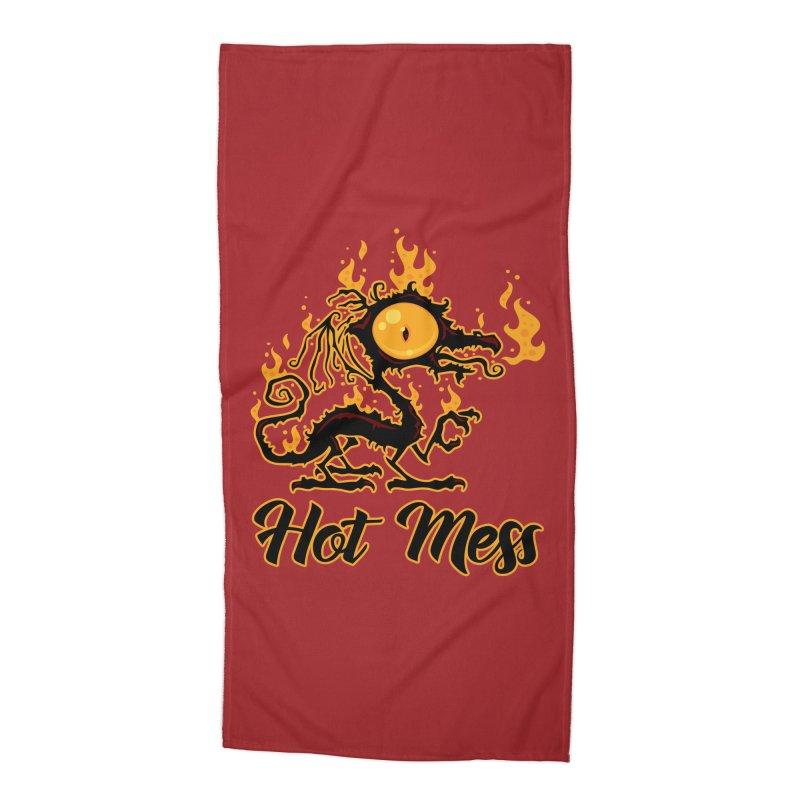 Hot Mess Crispy Dragon Accessories Beach Towel by Fizzgig's Artist Shop