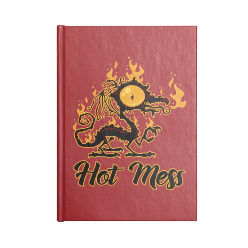 Hot Mess Crispy Dragon Accessories Lined Journal Notebook by Fizzgig's Artist Shop
