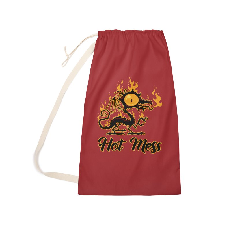 Hot Mess Crispy Dragon Accessories Laundry Bag Bag by Fizzgig's Artist Shop