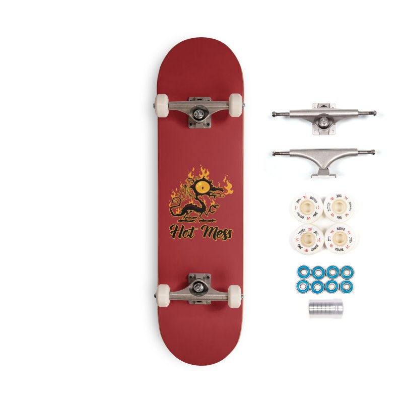 Hot Mess Crispy Dragon Accessories Complete - Premium Skateboard by Fizzgig's Artist Shop