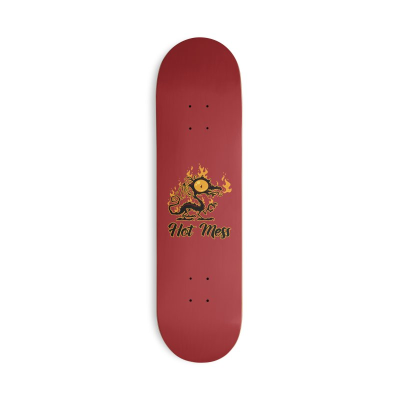 Hot Mess Crispy Dragon Accessories Deck Only Skateboard by Fizzgig's Artist Shop