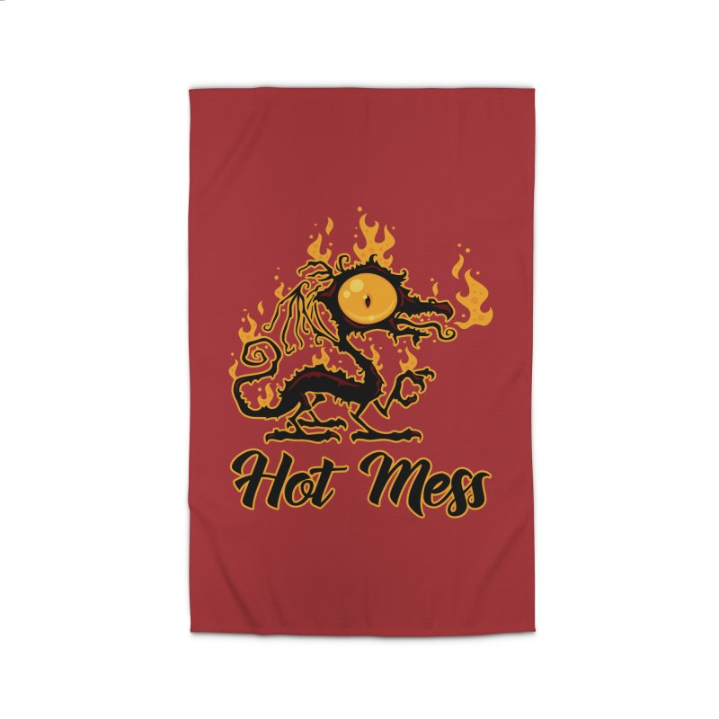 Hot Mess Crispy Dragon Home Rug by Fizzgig's Artist Shop
