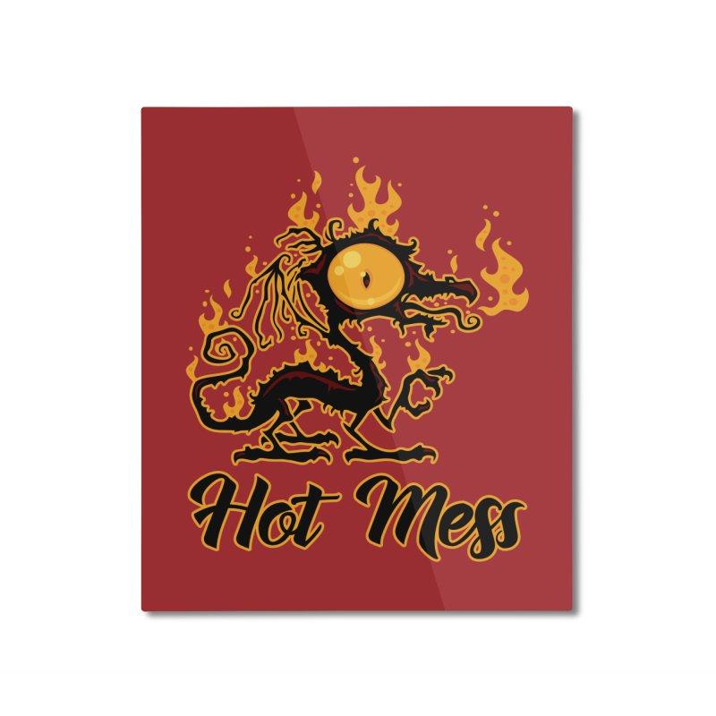Hot Mess Crispy Dragon Home Mounted Aluminum Print by Fizzgig's Artist Shop