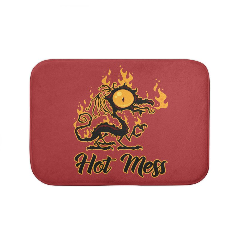 Hot Mess Crispy Dragon Home Bath Mat by Fizzgig's Artist Shop