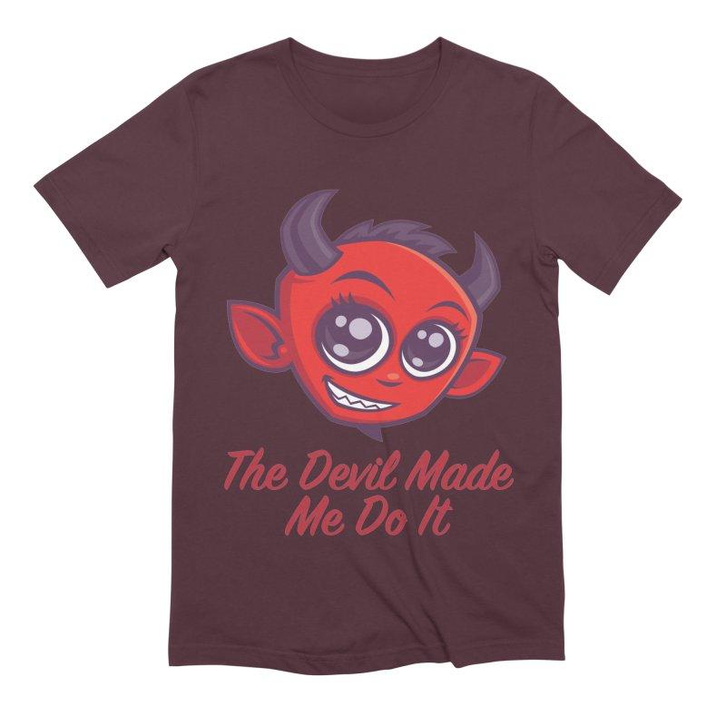 The Devil Made Me Do It Men's Extra Soft T-Shirt by Fizzgig's Artist Shop