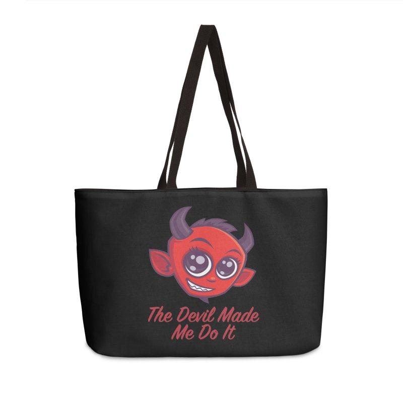 The Devil Made Me Do It Accessories Weekender Bag Bag by Fizzgig's Artist Shop