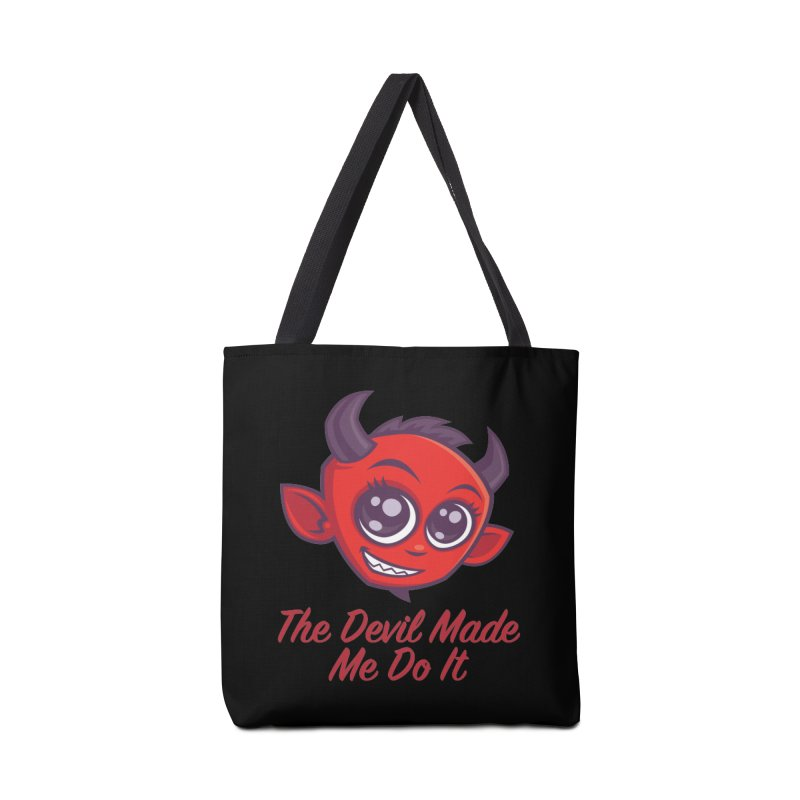 The Devil Made Me Do It Accessories Tote Bag Bag by Fizzgig's Artist Shop