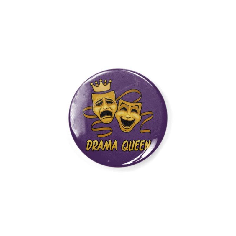 Drama Queen Comedy And Tragedy Gold Theater Masks Accessories Button by Fizzgig's Artist Shop