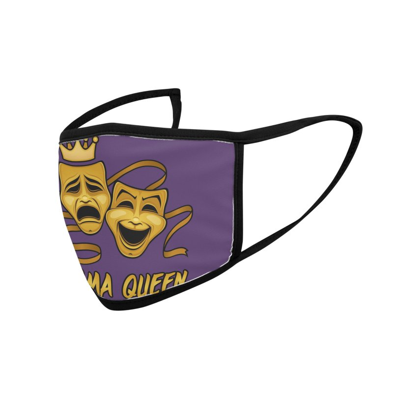 Drama Queen Comedy And Tragedy Gold Theater Masks Accessories Face Mask by Fizzgig's Artist Shop