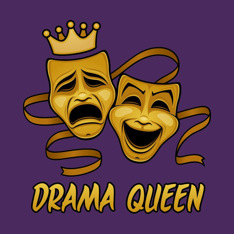 Drama Queen Comedy And Tragedy Gold Theater Masks by Fizzgig's Artist Shop