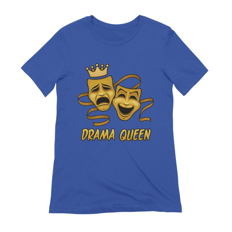 Drama Queen Comedy And Tragedy Gold Theater Masks Women's Extra Soft T-Shirt by Fizzgig's Artist Shop