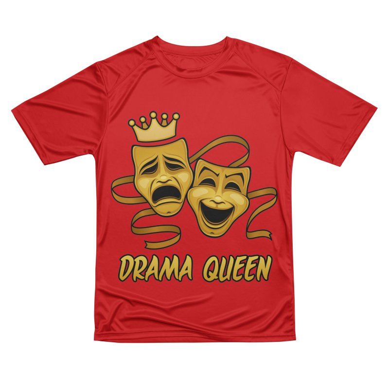 Drama Queen Comedy And Tragedy Gold Theater Masks Women's Performance Unisex T-Shirt by Fizzgig's Artist Shop