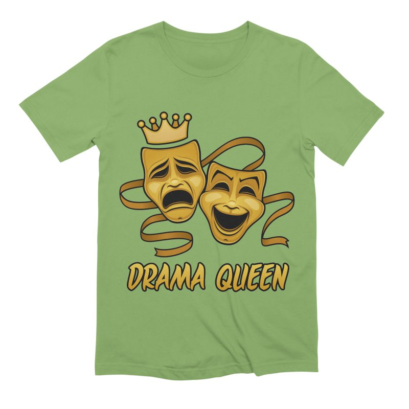 Drama Queen Comedy And Tragedy Gold Theater Masks Men's Extra Soft T-Shirt by Fizzgig's Artist Shop