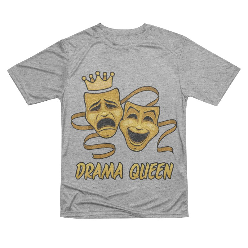 Drama Queen Comedy And Tragedy Gold Theater Masks Men's Performance T-Shirt by Fizzgig's Artist Shop