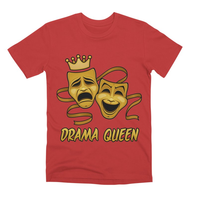 Drama Queen Comedy And Tragedy Gold Theater Masks Men's Premium T-Shirt by Fizzgig's Artist Shop