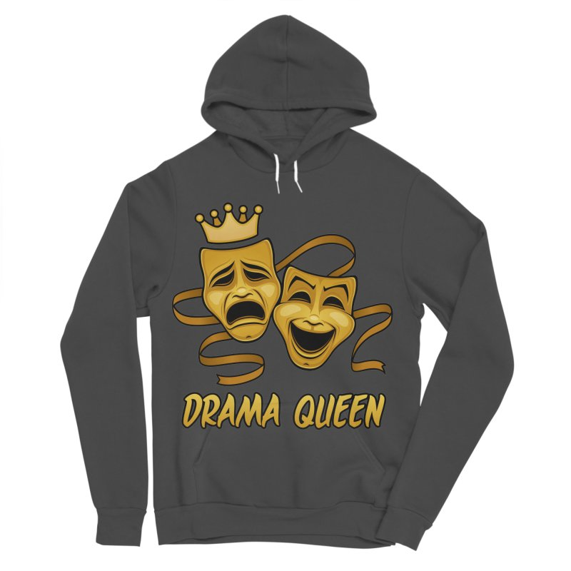 Drama Queen Comedy And Tragedy Gold Theater Masks Women's Sponge Fleece Pullover Hoody by Fizzgig's Artist Shop