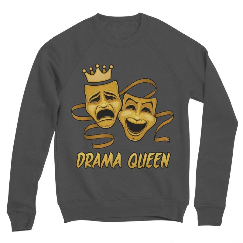 Drama Queen Comedy And Tragedy Gold Theater Masks Women's Sponge Fleece Sweatshirt by Fizzgig's Artist Shop