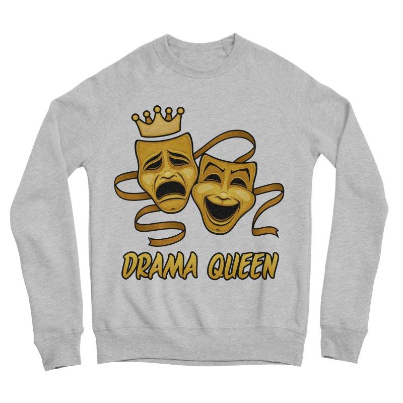 Drama Queen Comedy And Tragedy Gold Theater Masks Men's Sponge Fleece Sweatshirt by Fizzgig's Artist Shop