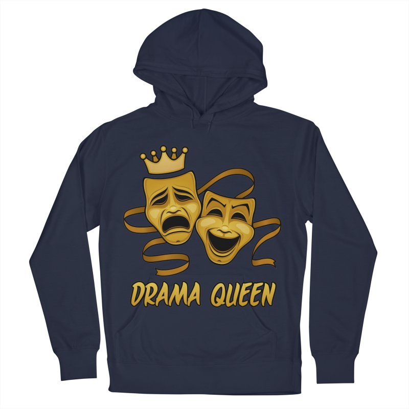 Drama Queen Comedy And Tragedy Gold Theater Masks Men's French Terry Pullover Hoody by Fizzgig's Artist Shop