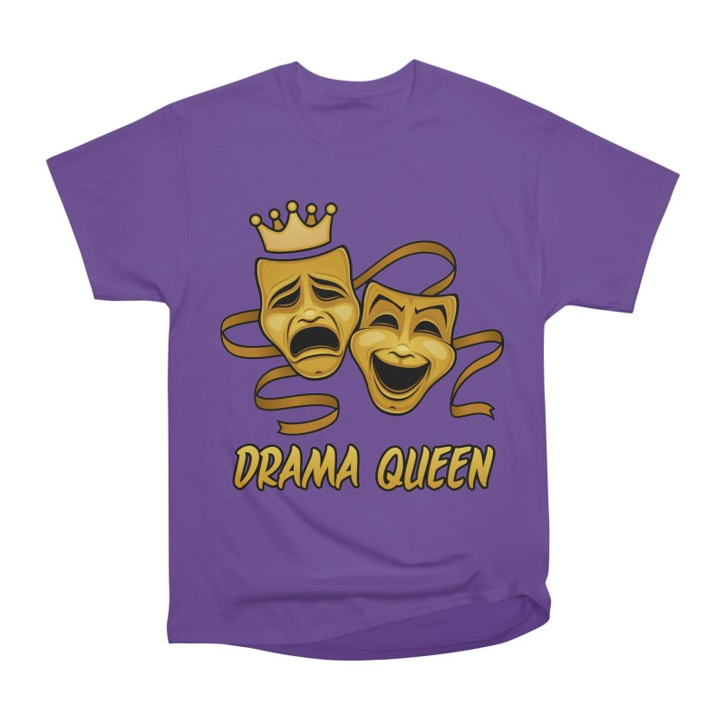 Drama Queen Comedy And Tragedy Gold Theater Masks Men's Heavyweight T-Shirt by Fizzgig's Artist Shop
