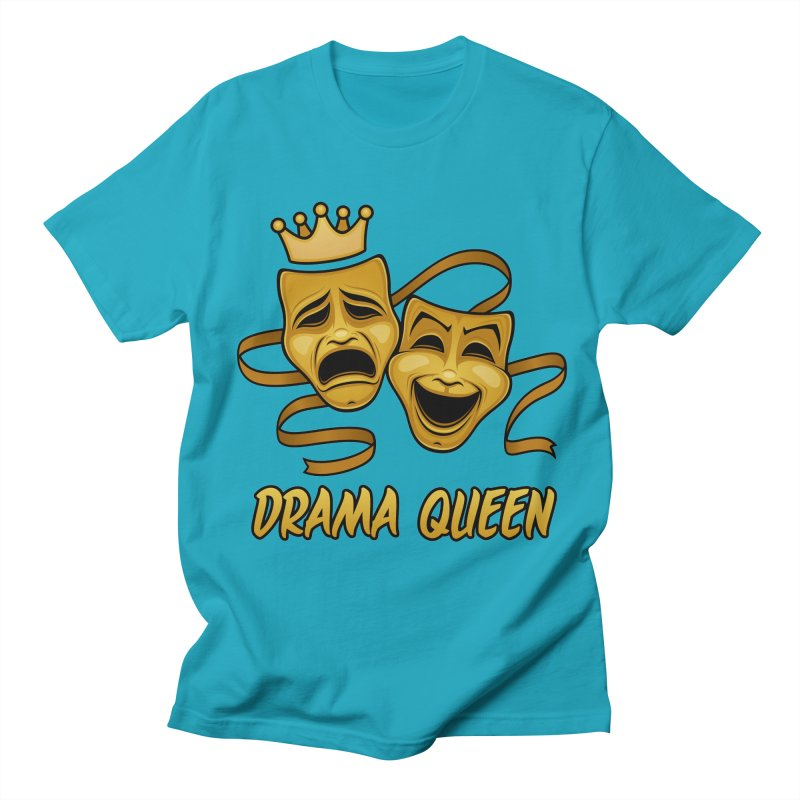 Drama Queen Comedy And Tragedy Gold Theater Masks Men's Regular T-Shirt by Fizzgig's Artist Shop