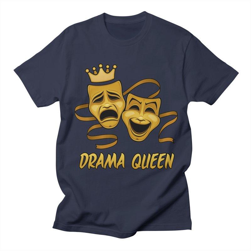 Drama Queen Comedy And Tragedy Gold Theater Masks Women's Regular Unisex T-Shirt by Fizzgig's Artist Shop