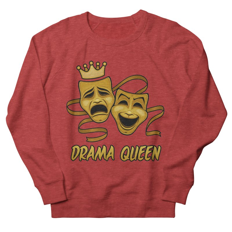 Drama Queen Comedy And Tragedy Gold Theater Masks Men's French Terry Sweatshirt by Fizzgig's Artist Shop