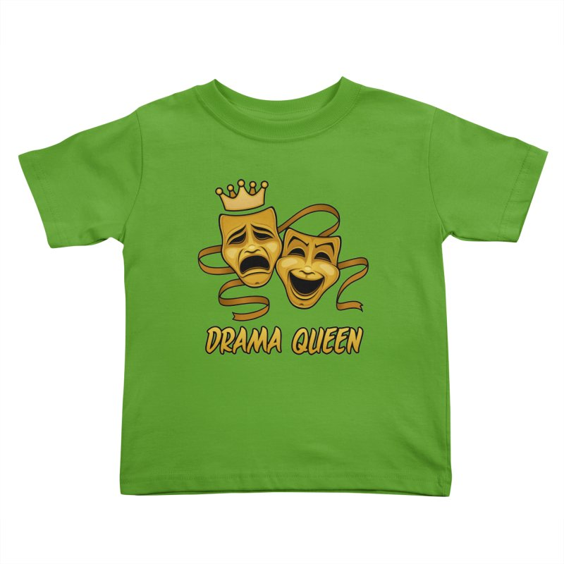 Drama Queen Comedy And Tragedy Gold Theater Masks Kids Toddler T-Shirt by Fizzgig's Artist Shop