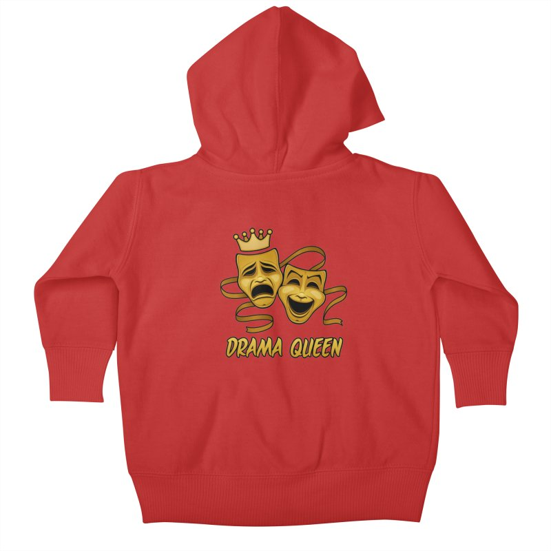 Drama Queen Comedy And Tragedy Gold Theater Masks Kids Baby Zip-Up Hoody by Fizzgig's Artist Shop