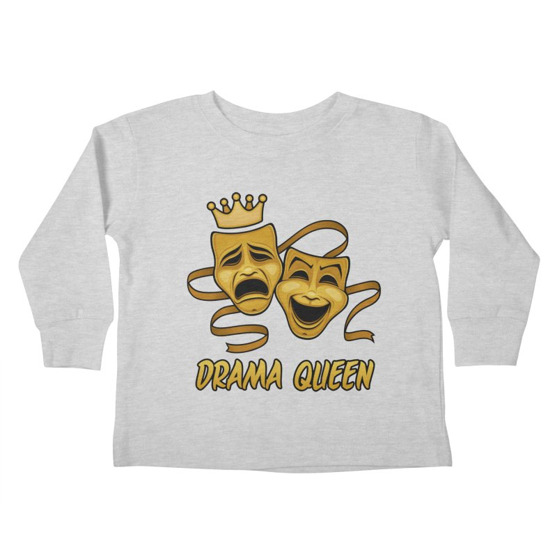Drama Queen Comedy And Tragedy Gold Theater Masks Kids Toddler Longsleeve T-Shirt by Fizzgig's Artist Shop