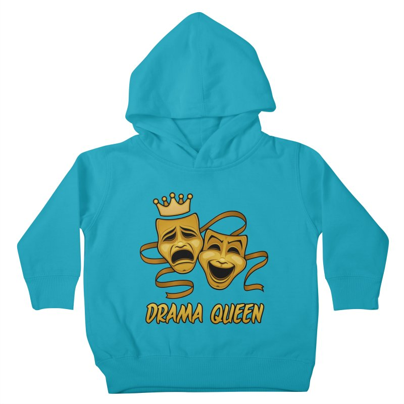 Drama Queen Comedy And Tragedy Gold Theater Masks Kids Toddler Pullover Hoody by Fizzgig's Artist Shop