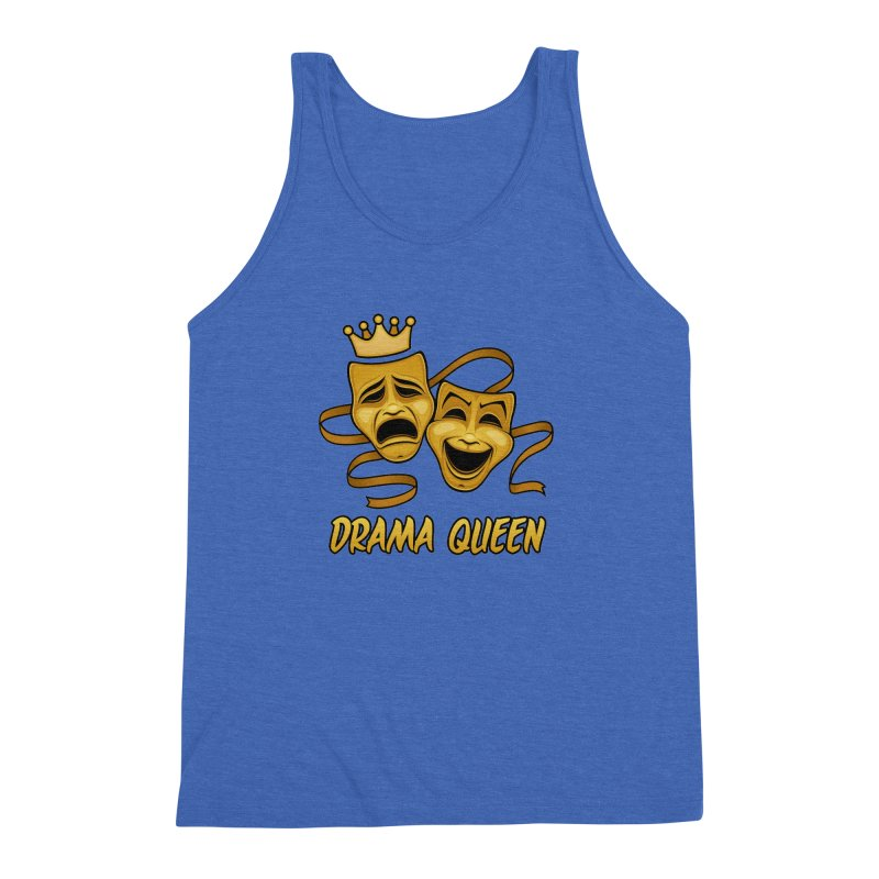 Drama Queen Comedy And Tragedy Gold Theater Masks Men's Triblend Tank by Fizzgig's Artist Shop