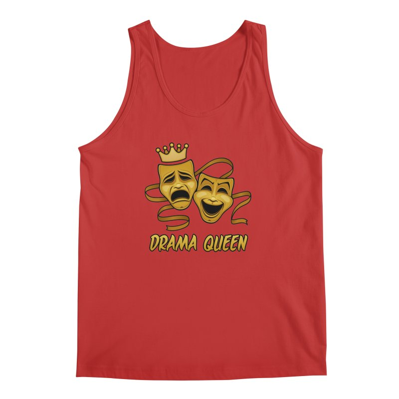 Drama Queen Comedy And Tragedy Gold Theater Masks Men's Regular Tank by Fizzgig's Artist Shop