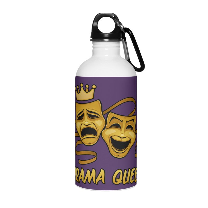 Drama Queen Comedy And Tragedy Gold Theater Masks Accessories Water Bottle by Fizzgig's Artist Shop