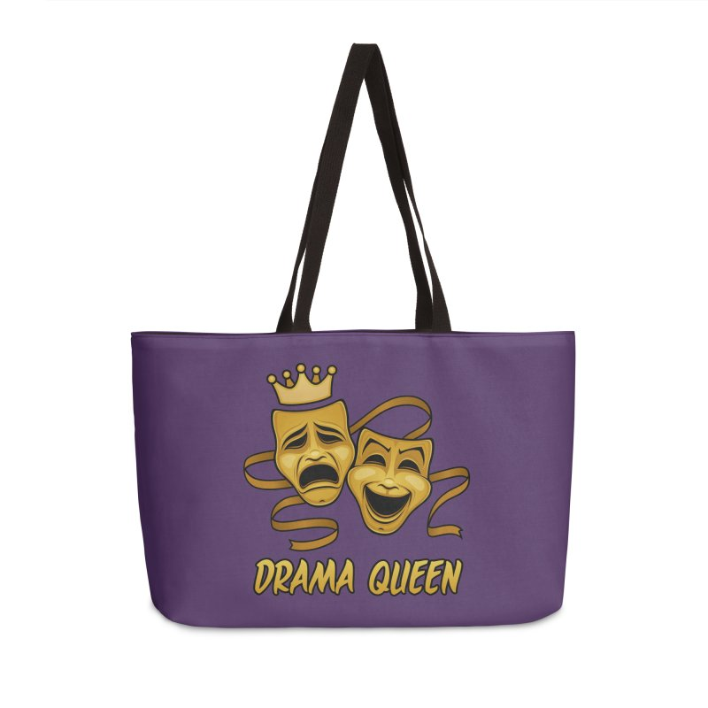 Drama Queen Comedy And Tragedy Gold Theater Masks Accessories Weekender Bag Bag by Fizzgig's Artist Shop